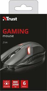 Trust 21512 Gaming Mouse da Gioco 6 pulsanti e illuminato (800 a 2000 dpi), Nero