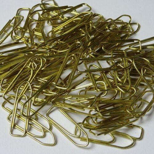 100 Stück 26 mm 1,95€//100 Stück gold Alco Büroklammern vermessingt