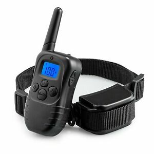 Dog Pet Electric Shock Training Collar Waterproof Rechargeable Remote 330Yard