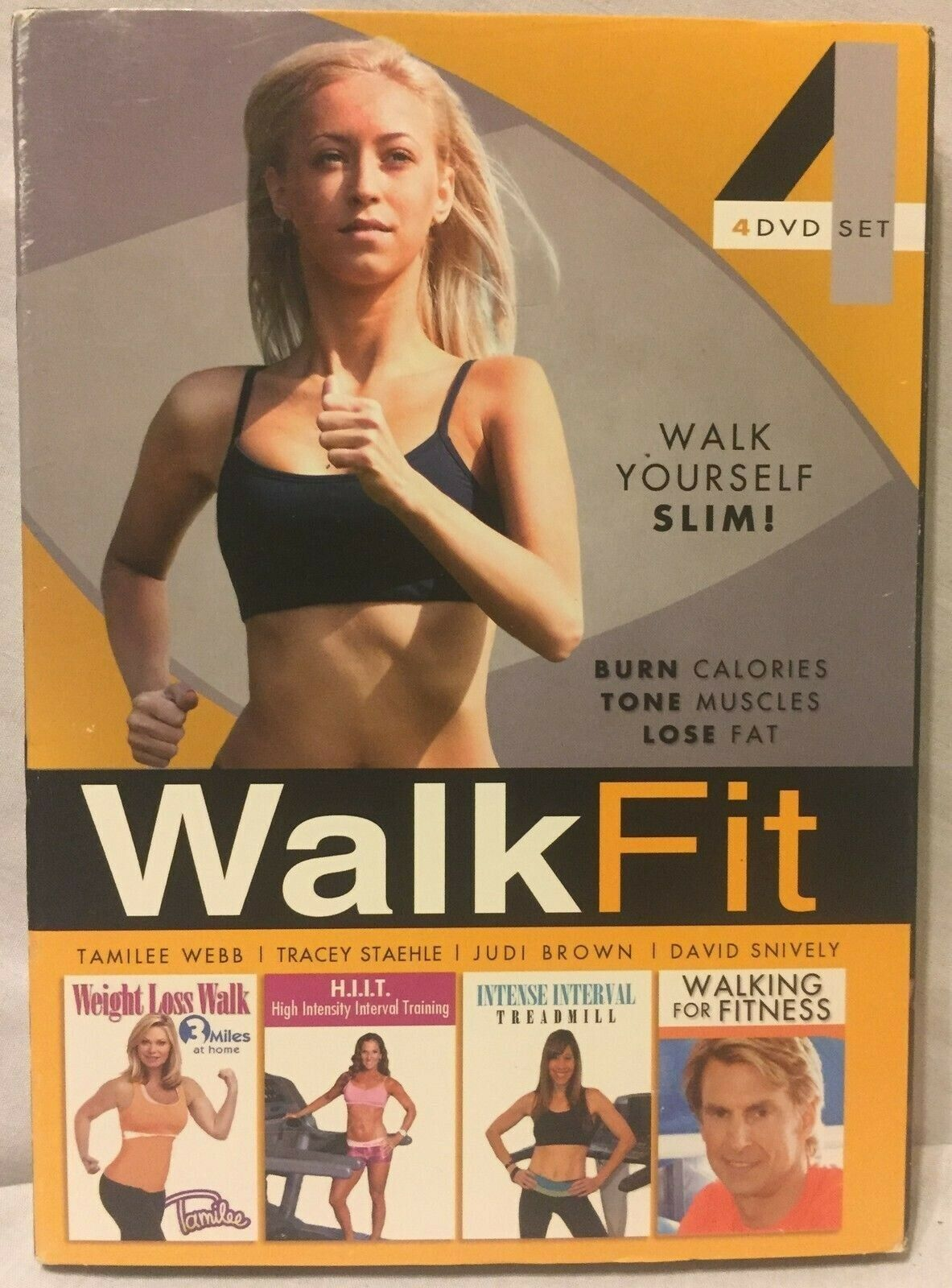 Walk Fit 4 DVD set Weight loss Walking Tamilee HIIT Treadmilll for fitness lose 2