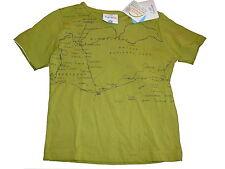NUOVO Topolino fantastico T-SHIRT Tg. 116 verde con carte geografiche pressione!!!