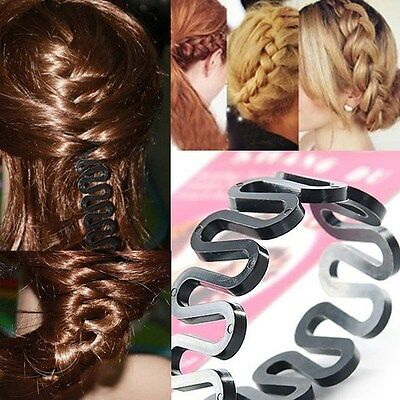 New Free Shipping  Women Fashion Hair Styling Clip Stick Bun Maker Braid Tool