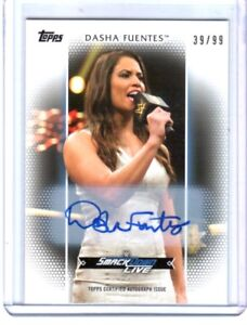 WWE-Dasha-Fuentes-2017-Topps-Women-039-s-Division-Authentic-Autograph-Card-SN-39-99