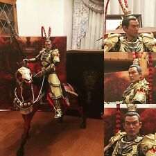 1/6 O-Soul 303 Three Kingdoms Chinese Warrior Lu Bu Figure plus Red Hare Horse