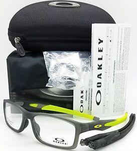 e52bd46cbaed5 NEW Oakley Crosslink MNP RX Asian Fit Frame Satin Grey Smoke OX8141 ...