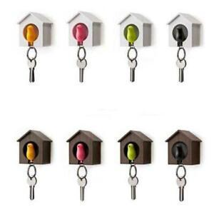 Novelty-Single-Duo-Sparrow-Bird-Nest-KeyChain-Key-Ring-Holder-Hook-Whistle-Ring