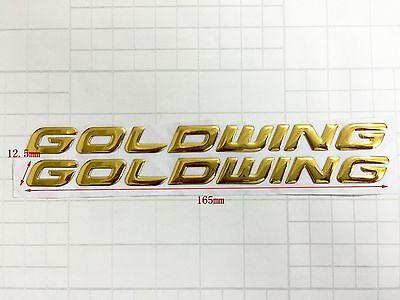 Raised 3D Chrome Gold Goldwing Decal Emblem Sticker Honda GL1800 2001-2014 Bling