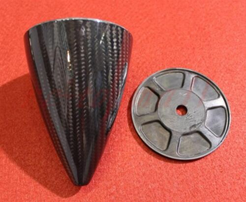 """3/""""//76.20mm Carbon Fiber Cone Prop Spinner For Gas RC planes w//  Two blade"""