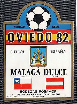 CV-906 Etiqueta de Vino Oviedo 82 Malaga Dulce Bodegas Rosamor