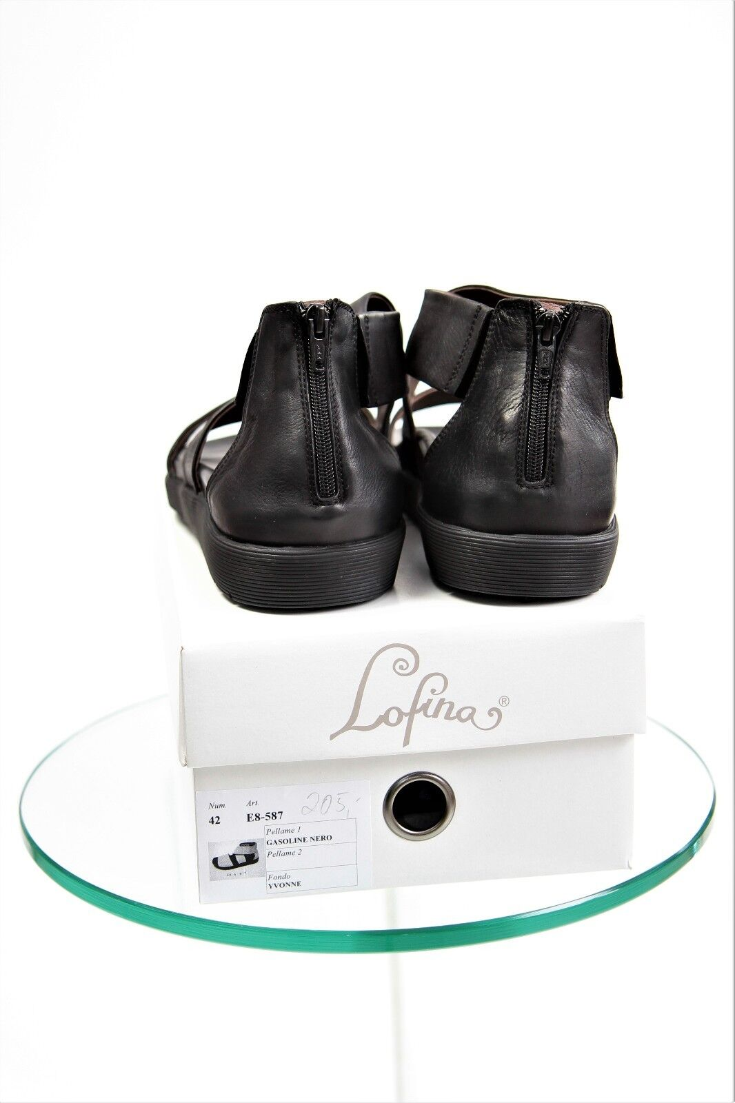 Lofina Damenschuhe Sandale Gr. 42/UK 8,0 US 10,5 Lagenlook, schwarz