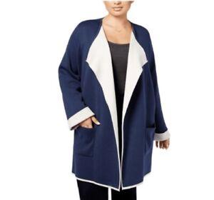 8628b2d05fc Image is loading Alfani-Plus-Size-Open-Front-Color-Block-Sweater-