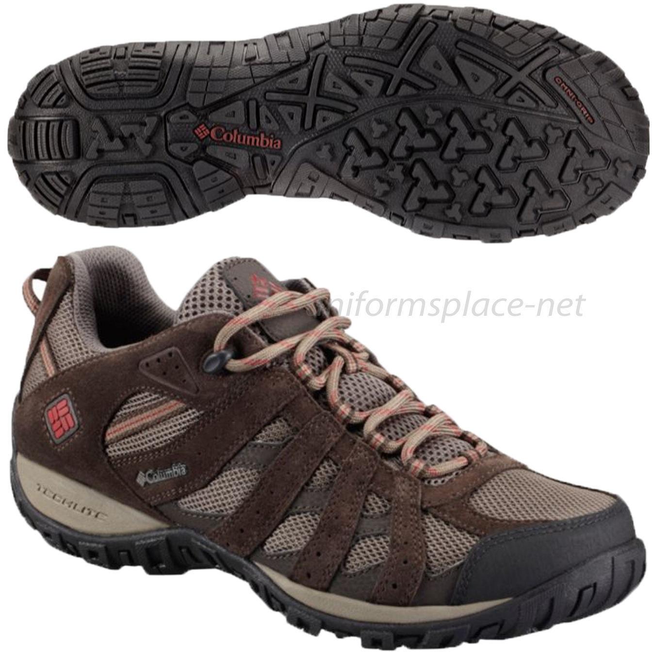 Columbia Shoes Mens Redmond Waterproof Mud Suede Leather Hiker Boots BM3938