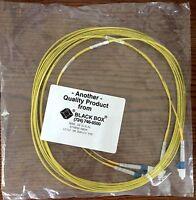 Black Box Single-mode 9-micron Duplex Fiber Optic Cable, Lc–lc, Pvc, 5-meter