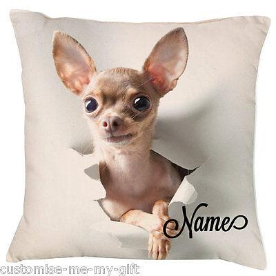 Chihuahua 2Coussin chiwawa-ajouter votre propre texte choixCadeau Mignon Chien 