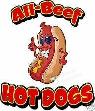 All Beef Hot Dogs Restaurant Cart Concession Food Truck Vinyl Sticker Decal 14