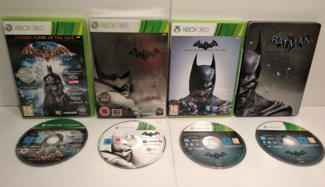 Batman Arkham Asylum GOTY / City & Origins Steelbook XBOX 360 Region Free