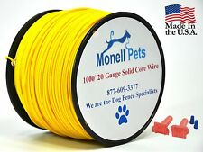 Petsafe Compatible 20 Gauge Dog Fence Wire 1000' Heavy Duty 30 MIL Polyethylene