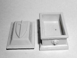 1 x SARCOPHAGE - BONES REAPER miniature figurine rpg graveyard sarcophagus 77632