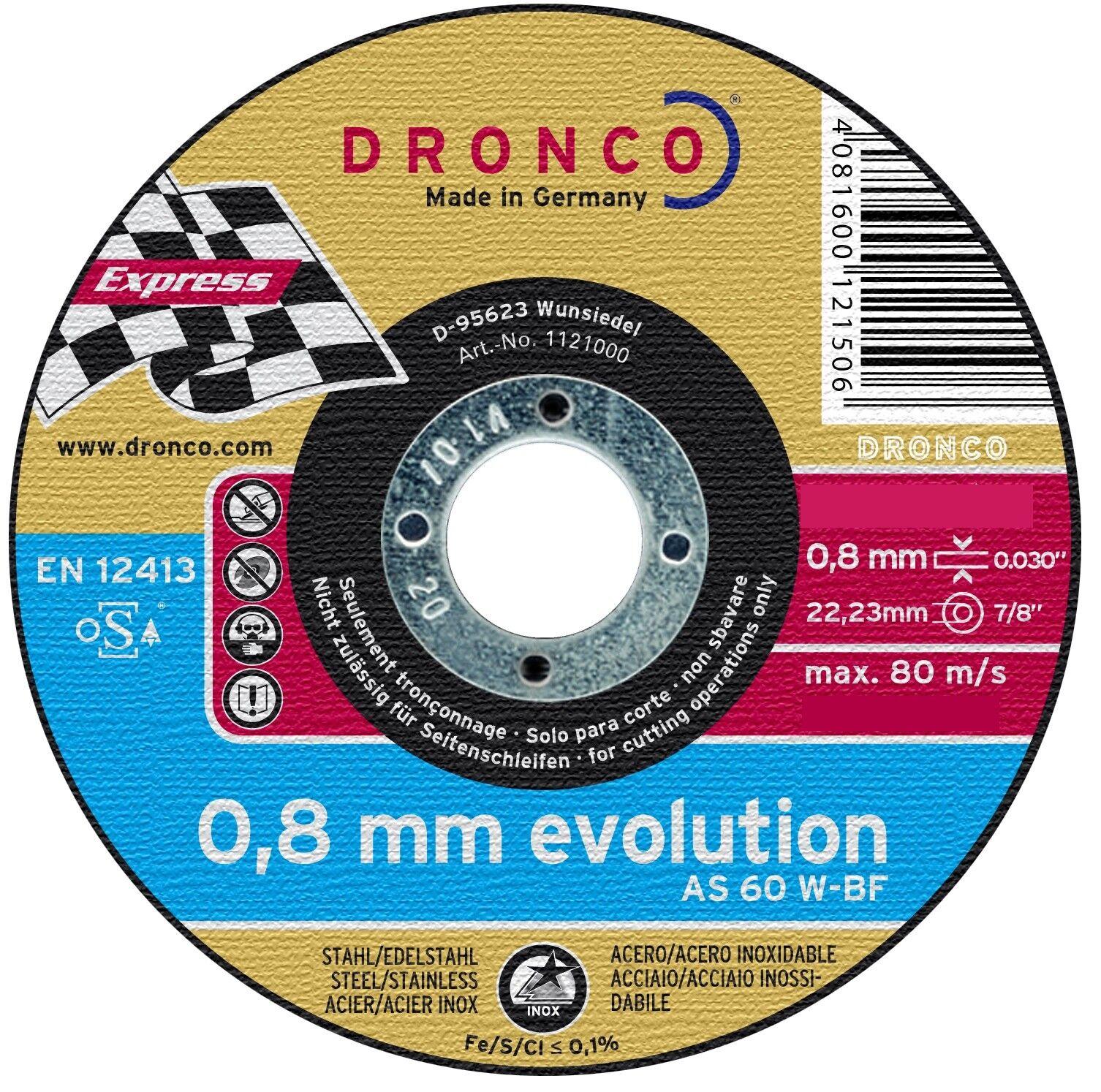 5 Discos Separación 115 x 0,8 x 22,2, Como 60W, Disco Separador
