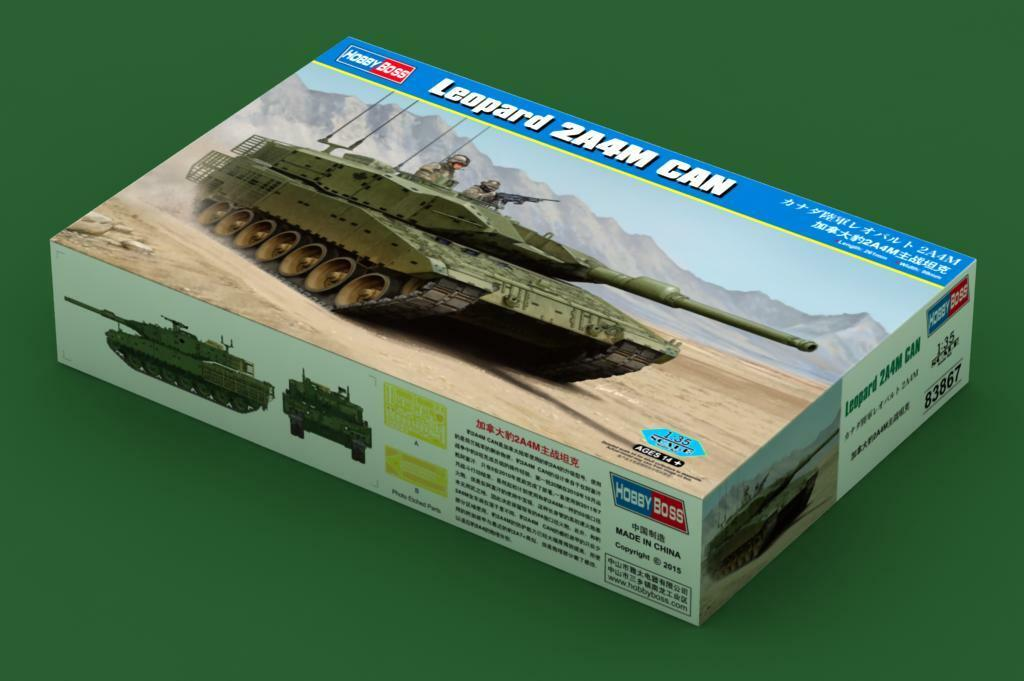 83867 Hobby Boss Leopard 2A4M CAN Tank Armored Car Vehicle Static 1 35 Model Kit