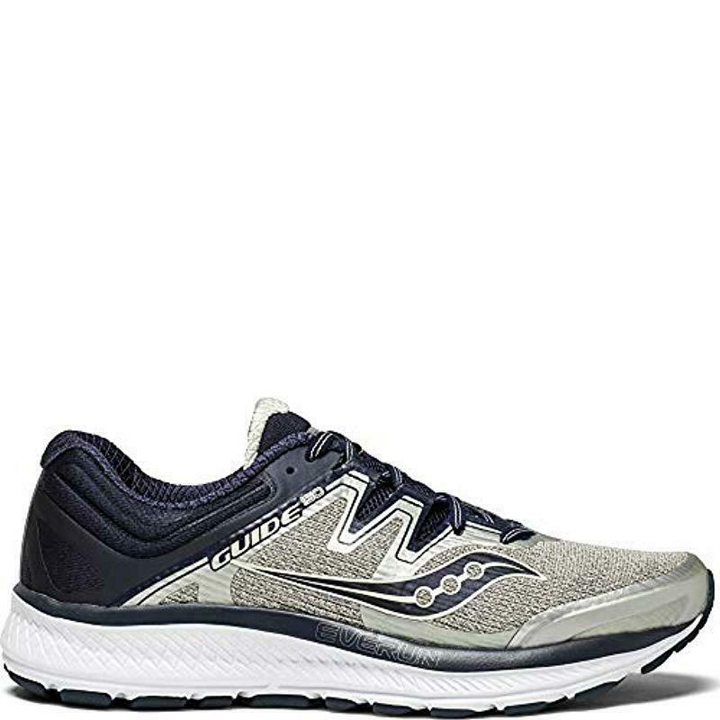 Saucony Guide ISO, Men`s Size 12.5 Wide (2E), Grey/Navy S20416-1 NEW!