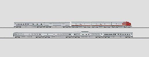 MÄRKLIN H0 26496 Santa Fe Súper Jefe Locomotora diésel Vagón MFX DIGITAL
