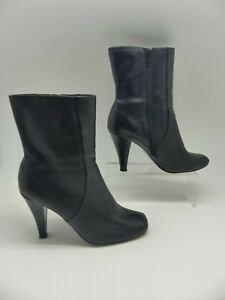 NEXT BLACK WIDE FIT ANKLE BOOTS SIZE 6