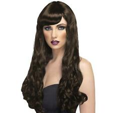 Da Donna Ragazza Marrone DESIDERIO Parrucca Lunga Ondulata Halloween Katy Perry tintura dei capelli BRUNA