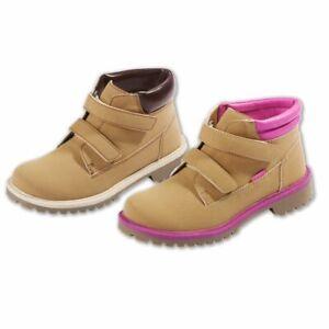 Kinder-Jungen-Maedchen-Stiefel-gefuettert-Schuhe-mit-Klettverschluss-Herbst-Winter