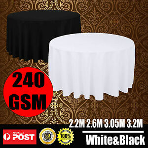 Black-White-Round-Tablecloths-Wedding-Event-Party-Function-Deco-Table-Cloth