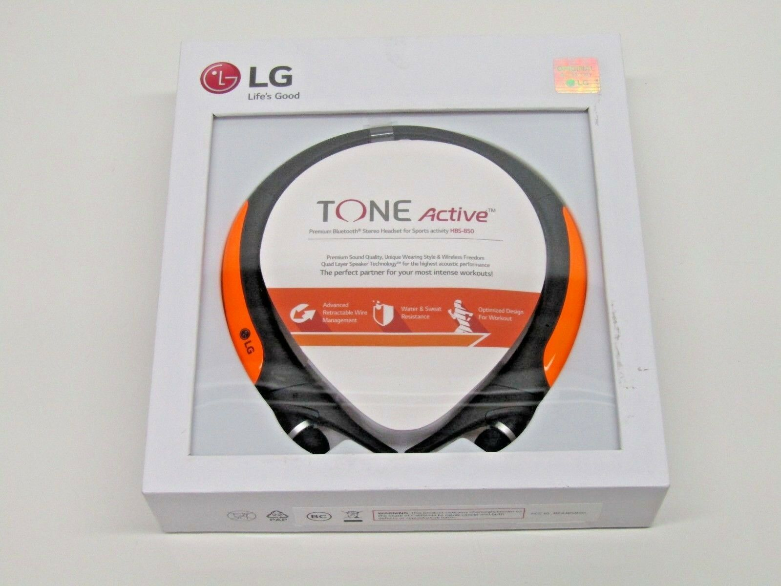 Lg Tone Active Hbs 850 Orange Neckband Headsets Ebay Headset 730
