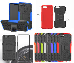 Pour-Oppo-AX5-A3S-Realme2-Robuste-Armure-Hybride-Bequille-Coque-Protectrice