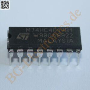 2-x-M74HC4017B1-Decade-Counter-Divider-STM-DIP-16-2pcs