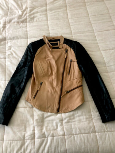 Zara Real Leather Biker Jacket (Women's M)