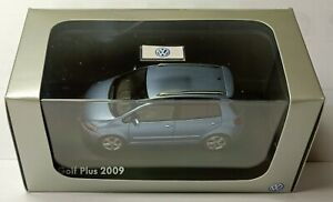 VW VOLKSWAGEN GOLF VI 6  PLUS 2009 TSI SHARK BLUE SCHUCO 1/43 5M0099300AA5Q RARE