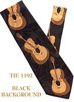 Bass Guitar Musician Music Neck Tie 1192