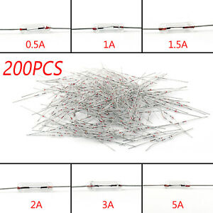 200Pcs Glass Fuse 3x10mm Tube Axial Fast Blows Fuse With Lead Wire 250V A9