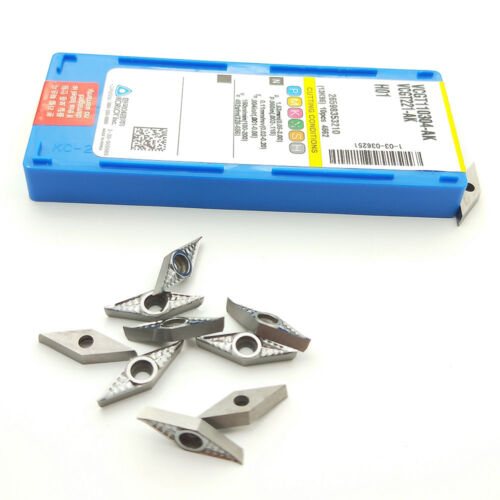 10pcs VCGT110304-AK H01 VCGT221 for Aluminum inserts Silver Lathe cutting tools