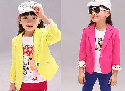 New Fashion Baby Girls Clothes Suit Jacket Blazer Kids Children Coat Outerwear
