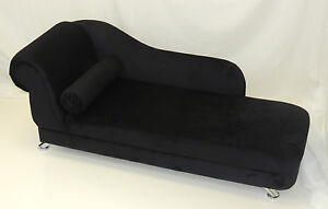 BLACK-VELVET-MINI-CHAISE-LONGUE-WITH-CHROME-LEGS