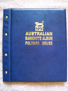 AUSTRALIAN-DECIMAL-1988-2017-POLYMER-BANKNOTE-Illustrated-ALBUM-BLUE-Colour