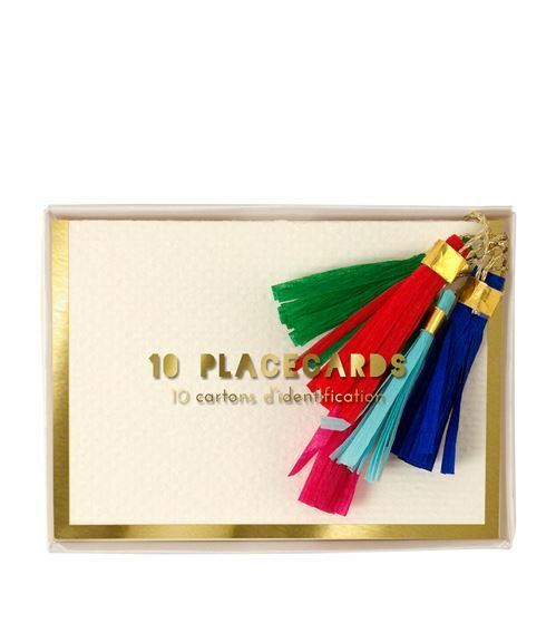 MERI MERI TASSEL PLACE CARDS NEW IN BOX SET OF 10