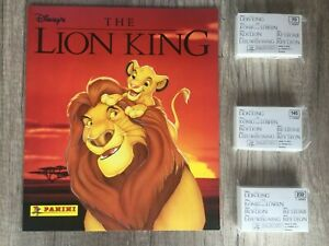 Panini Lion King 1994 Disney  Album with 1-232 loose stickers New/Mint