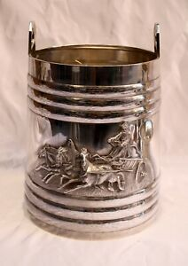 Antiques Ice Bucket By Ivan Vonifatiyevich High Quality Materials Silver Intelligent 1872 Russian 84 Silver Champagne Cooler