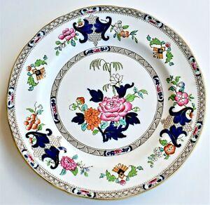 Antique-Minton-Imari-Cobalt-Blue-6034-Plate-Dish-10-034-diameter-circa-1860