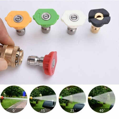 5 Color Nozzles Tips Car Water Wash High Pressure Power Washer Gun 4000PSI