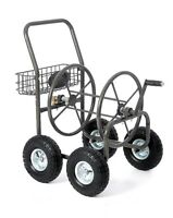 Water Garden Hose Reel Cart W/ 4 Wheels Heavy Duty Wind Up Storage Free Shipping on sale