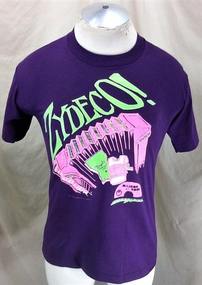 Vintage 1990 Zydeco Blaus & Soul (Med) Maison de Soul Record Label Graphic Shirt