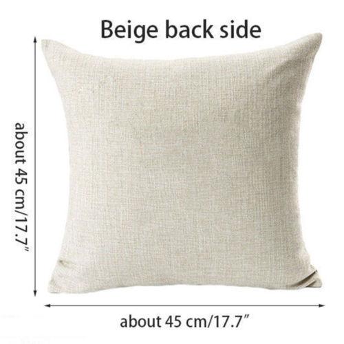 """Easter Day Rabbit Egg & Bunny Home Decor Linen Pillow Case Cushion Cover 18/"""""""