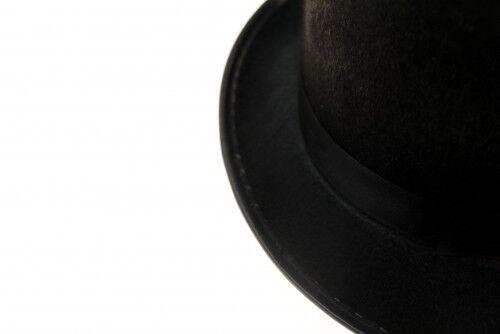 1x CYLINDRE en noir Chapeau-Carnaval Magicien Chapeau
